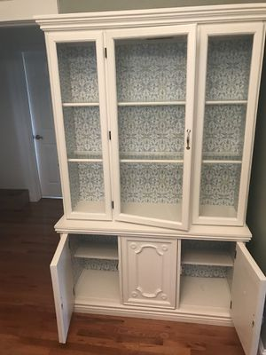 Refurbished white china cabinet for Sale in Belleville, IL