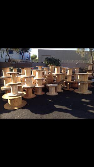 Wooden spools for sale for Sale in Phoenix, AZ