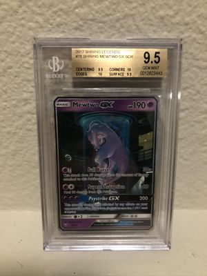 BGS Shining legends Mewtwo 78 secret rare for Sale in Pacific, WA