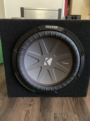 Kicker Comp R 12 subwoofer with amp and audio control for Sale in Pittsburg, CA