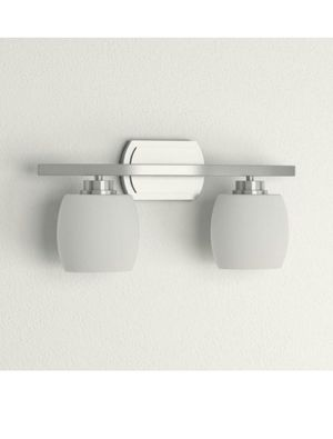 Brushed Nickel Vanity Light with Frosted Glass Shades for Sale in Phoenix, AZ