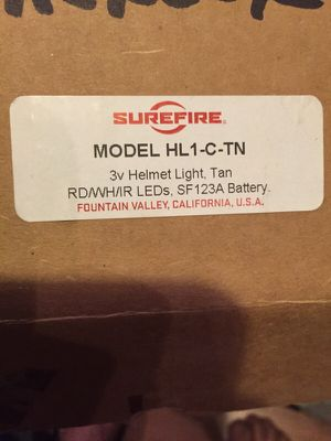 Sure fire helmet light for Sale in Sacramento, CA