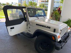 1998 Jeep Wrangler tj 4 cyl manual 4x4 like New for Sale in Miami, FL