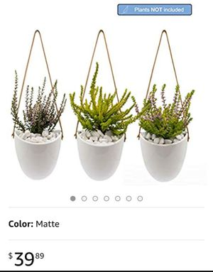 Plant pots ,Joda Ceramic Hanging Planter Set, Succulent Hanging Planters for Sale in City of Industry, CA