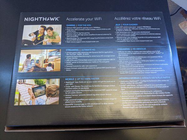 Netgear Nighthawk AC1900 smart Wifi gaming router