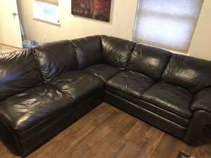 Leather sectional NEED GONE MAKE AN OFFER for Sale in Euless, TX