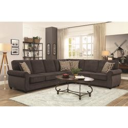 Kendrick Sectional with Memory Foam Sleeper (Brown) for Sale in Atlanta,  GA