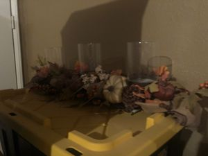 Floral candle sholder home decor for Sale in Fontana, CA