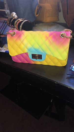 Rainbow Sorbet small purse w/Gold chain strap for Sale in View Park-Windsor Hills, CA