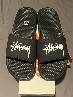 Nike Stussy Benassi Slides Size 10 for Sale in Garden Grove, CA