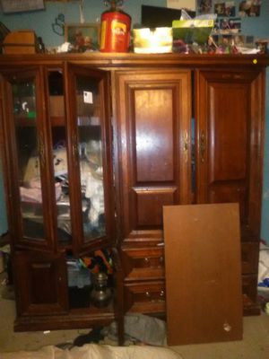 Solid oak computer entertainment center for Sale in Mabelvale, AR
