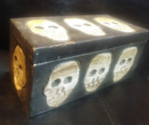 Skull box Handcarved from bali for Sale in Amherst, VA