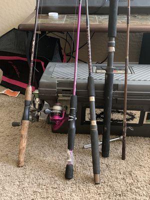 4 fishing poles for Sale in Phoenix, AZ
