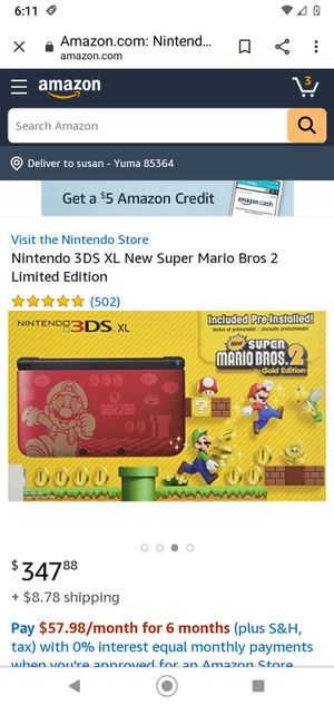 Super nintendo 3DS xl for Sale in Yuma, AZ