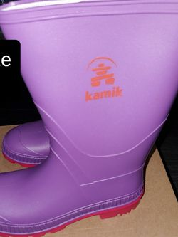 NEW- Violet Kamik Stomp Rain 🌧 Boots size 4 youth for Sale in Renton,  WA