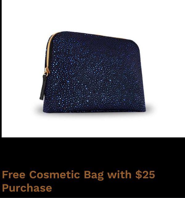 Holiday cosmetics bag