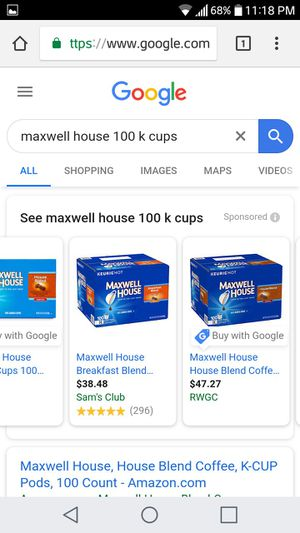 Starbucks 10 k cup pods ×maxwell 100 k cup pods brand new for Sale in Tampa, FL