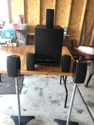 Very Nice Klipsch 5.1 Home Theater Speakers for Sale in Eastpointe, MI