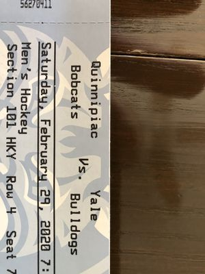 Yale at Quinnipiac men's hockey ticket for Sale in North Haven, CT