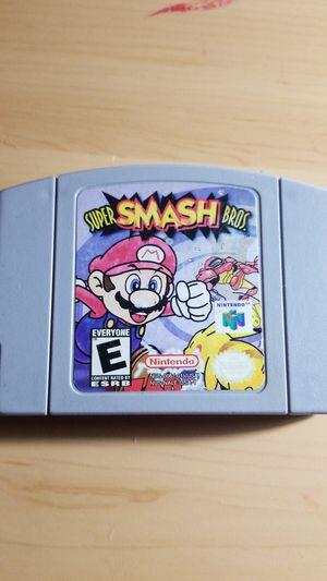 Selling Super Smash Bros Nintendo 64 $25 for Sale in Mesa, AZ