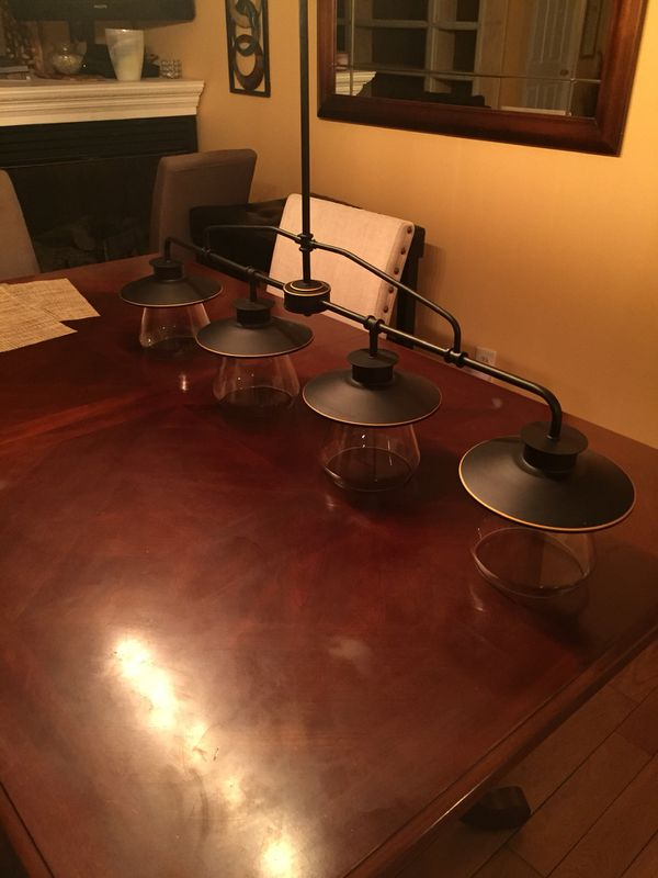 brushed bronze kitchen light fixture