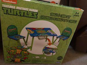 New Nickelodeon Ninja Turtles table & chair set for Sale in Houston, TX