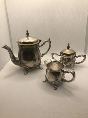Teacup Set- Silverplated for Sale in Rossmoor, CA