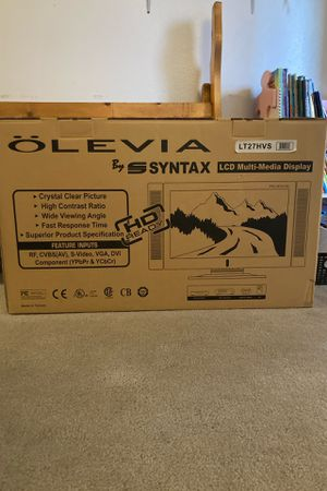 """Syntax Olevia LCD 32"""" TV HD Ready for Sale in Colton, CA"""