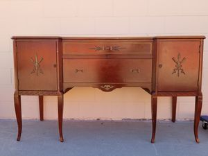 Vintage console media entryway buffet table for Sale in Huntington Beach, CA
