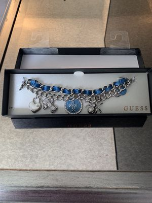 Guess charm bracelet blue & silver for Sale in Twinsburg, OH