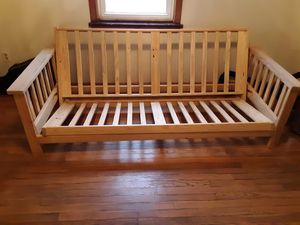 Yellow pine full size futon frame. for Sale in Bellefonte, PA