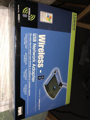 Linksys -B Usb network Adapter. Model # WUSB 11 for Sale in Gaithersburg, MD