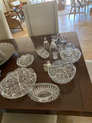 Antique Cut Glass and Waterford Crystal for Sale in Rancho Santa Fe, CA