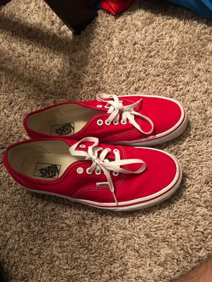 Red and white VANS for Sale in Bellaire, TX