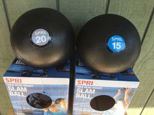 Spri 15 lb 20 lb dead weight Slam Ball Medicine Ball for Sale in City of Industry, CA