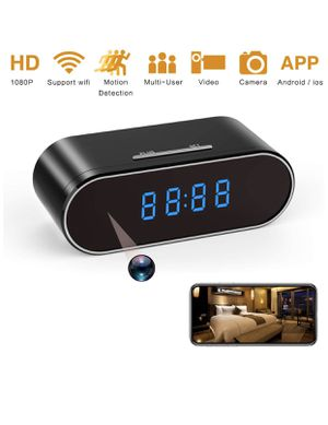 Spy Camera, 1080P Hidden Camera Clock WiFi Video Recorder 140° Wide Angle Lens Wireless IP Cameras for Indoor Home Security Monitoring Nanny Cam with for Sale in Tamarac, FL