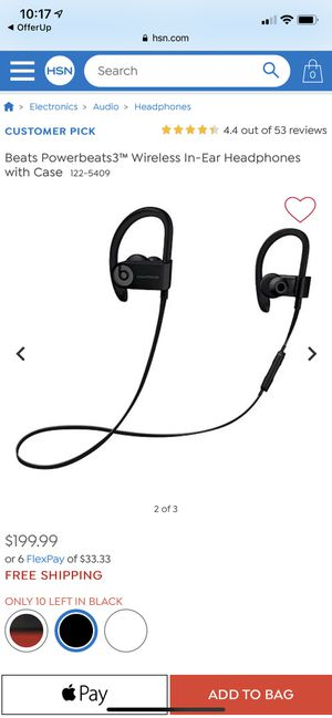 Powerbeats wireless in ear headphones with case for Sale in Los Angeles, CA
