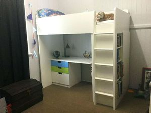 ALL WHITE IKEA kids bunk bed for Sale in Seattle, WA
