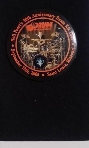 Neil Peart button exclusive drum set tour for Sale in St. Louis, MO