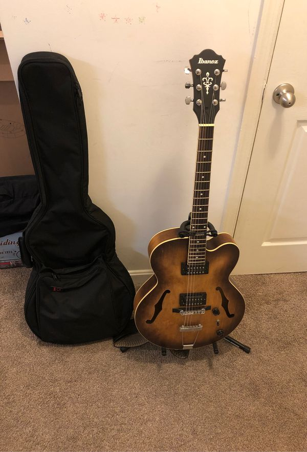 Ibanez hollow electric + boss gt-8