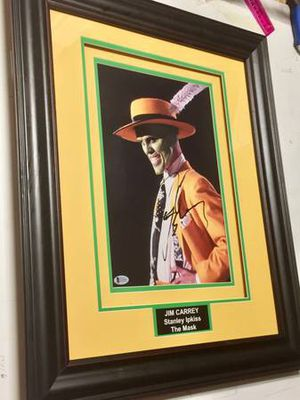 Jim Carrey signed autographed framed 11x14 photo The Mask BAS Beckett coa for Sale for sale  Menifee, CA