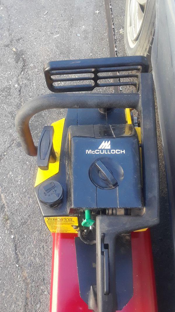 McCULLOCH PM 610 CHAIN SAW 20IN