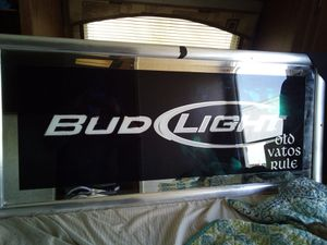 Bud Light Beer Sign mirror for Sale in Perris, CA