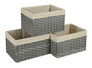 SONGMICS Set of 3 Rattan-Style Storage Bins for Sale in Chino, CA