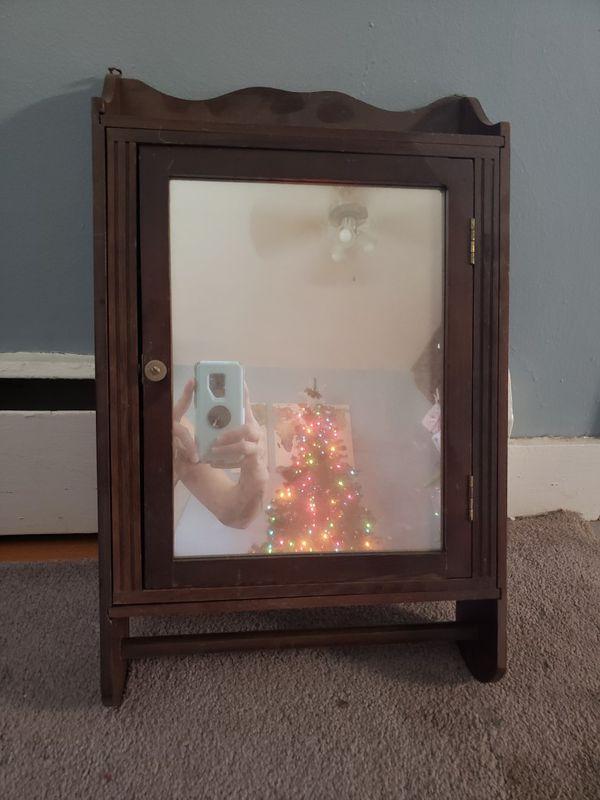 Antique mirrored cabinet
