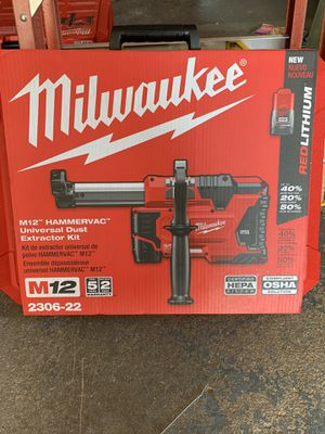 Milwaukee M12 Hammervac Dust Extractor Kit for Sale in Pompton Lakes, NJ