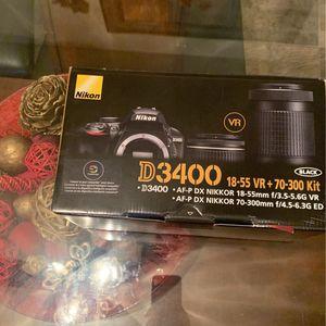Nikon D3400 2 Lens Kit for Sale in Tualatin, OR