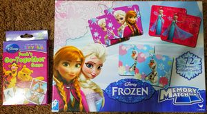 Kids Games by Disney!! Frozen Memory Game,Pooh's Go-Together Game , BLINK- From The Makers Of Uno for Sale in Pittsburgh, PA