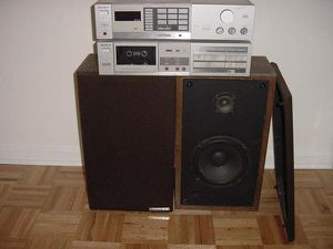 Sony receiver with matching cassette player plus speakers $150 for Sale in Washington, DC