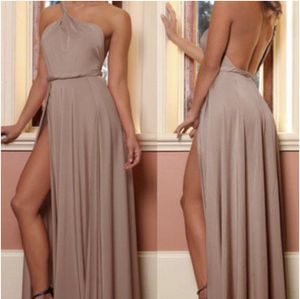 Abyss by Abby Vamp Dress Elegant Sexy Posh Nude Maxi Prom Gown Size S for Sale in Miami, FL